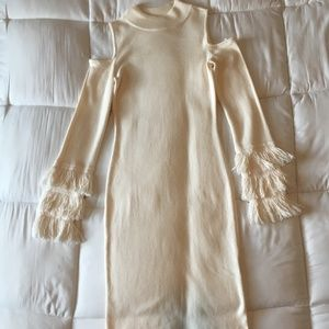 BAR III - Cotton Cream Long Sleeve Dress